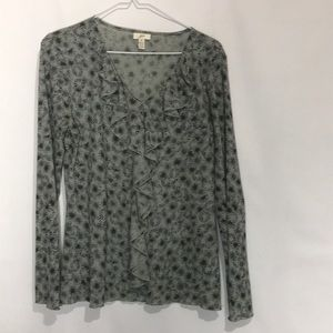 J Jill Gray Top Size Medium